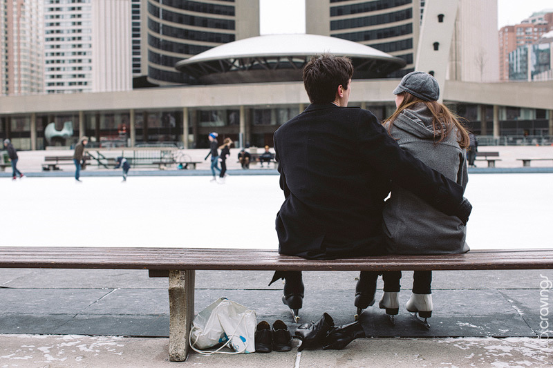 Nathan Phillips Square Toronto engagement photography