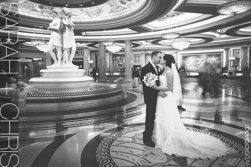 Caesars palace las vegas wedding sarah chris for Crazy las vegas weddings