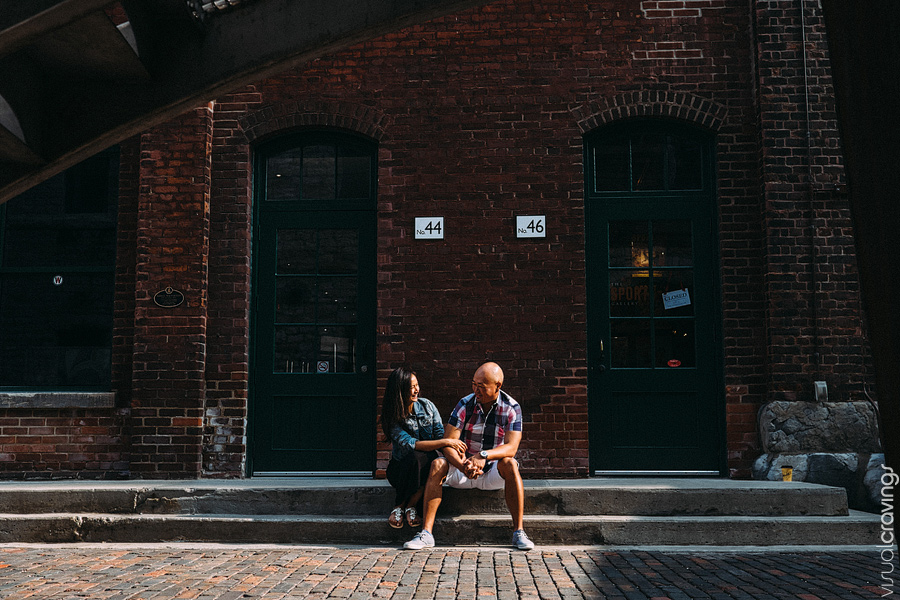 Distillery District Toronto creative engagement photography