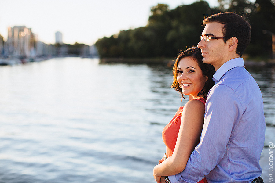 Oakville waterfront engagement photography