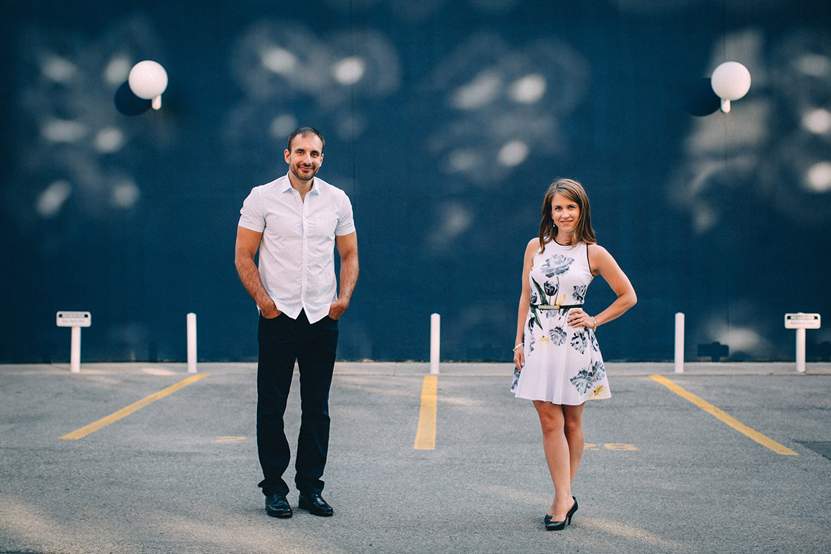King Street East Toronto engagement session