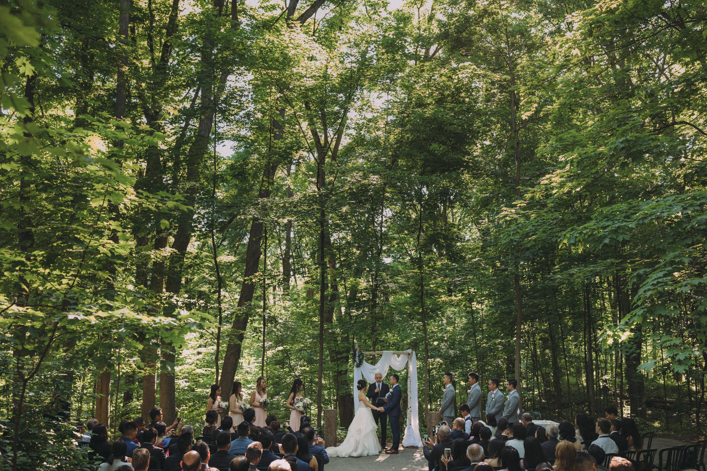 forest wedding ceremony